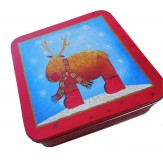 Rudolf Red Scarf Tin