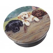 Puppies Christmas Tin