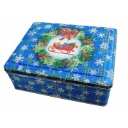 Blue Snowflakes Tin