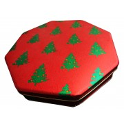 Red and Green Trees Tin